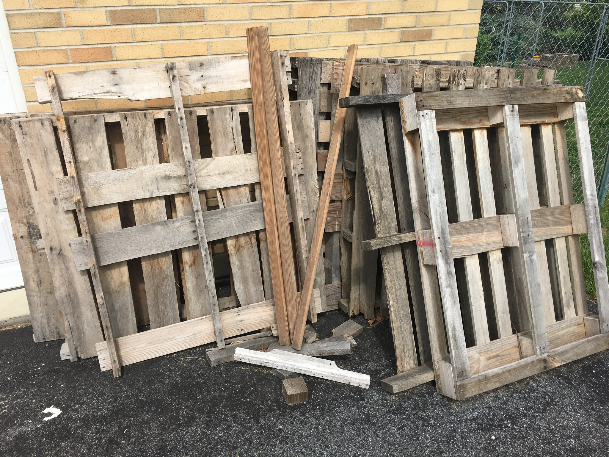 Old Furniture and Wood Pallets made into something new